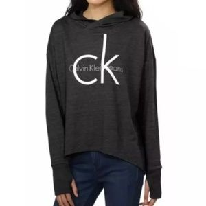 CALVIN KLEIN BNWT Monogram Hooded Sweatshirt Grey